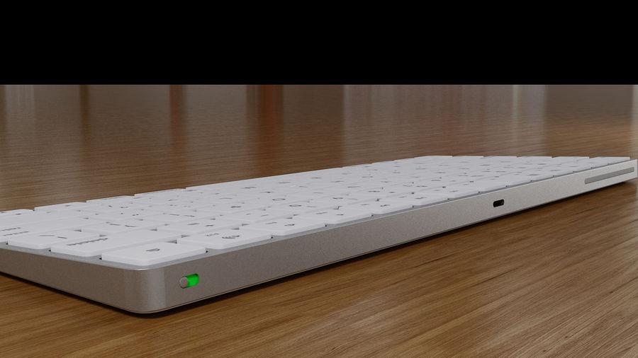 새로운 Apple Magic Keyboard 2 royalty-free 3d model - Preview no. 4