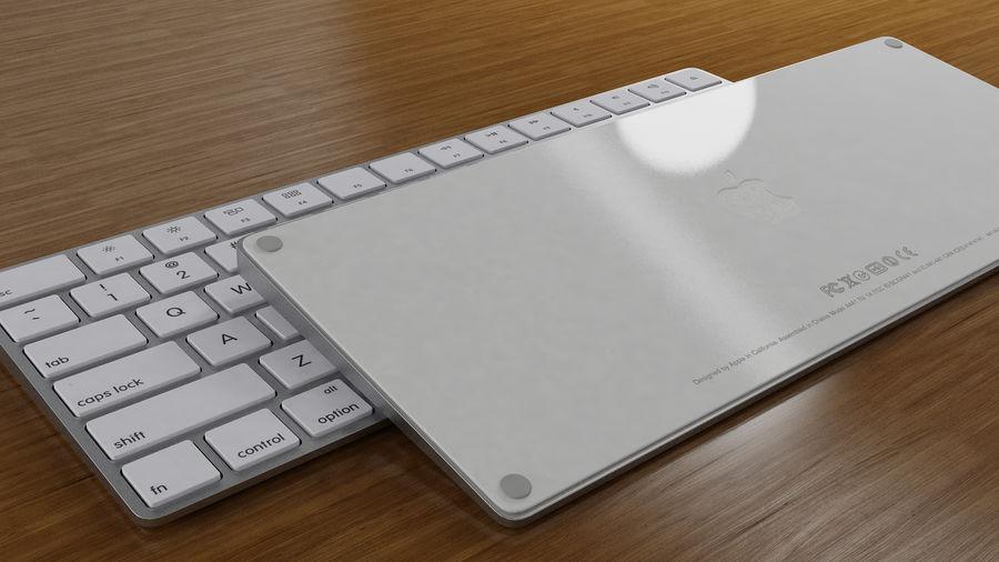 새로운 Apple Magic Keyboard 2 royalty-free 3d model - Preview no. 1
