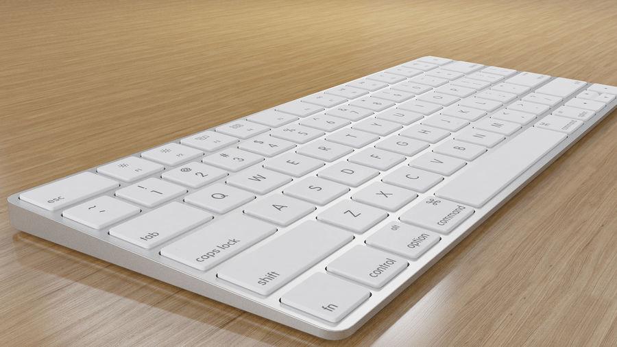 새로운 Apple Magic Keyboard 2 royalty-free 3d model - Preview no. 7