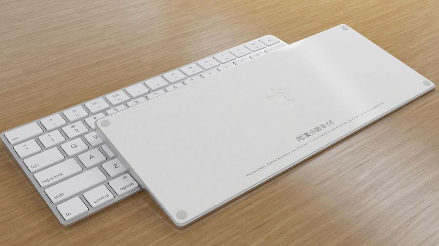새로운 Apple Magic Keyboard 2 royalty-free 3d model - Preview no. 2