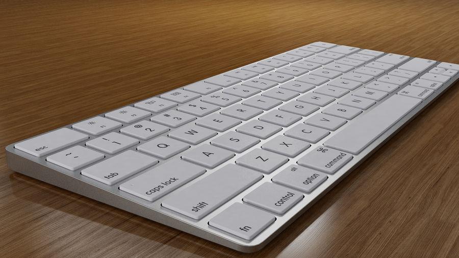 새로운 Apple Magic Keyboard 2 royalty-free 3d model - Preview no. 6