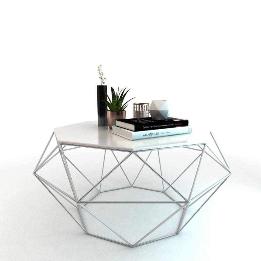 stolik do kawy royalty-free 3d model - Preview no. 2