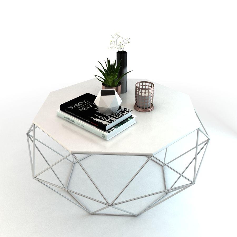 stolik do kawy royalty-free 3d model - Preview no. 1
