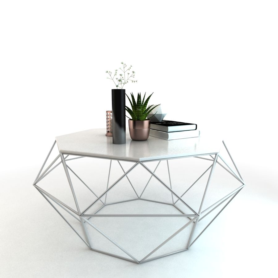 stolik do kawy royalty-free 3d model - Preview no. 3