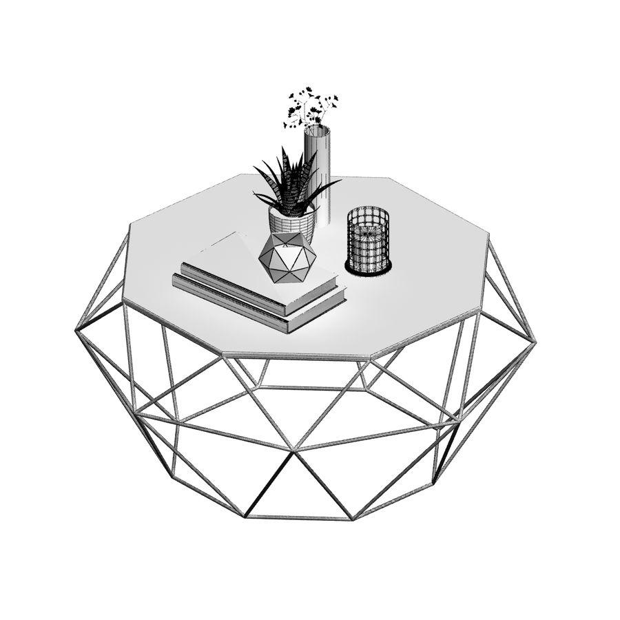 stolik do kawy royalty-free 3d model - Preview no. 7