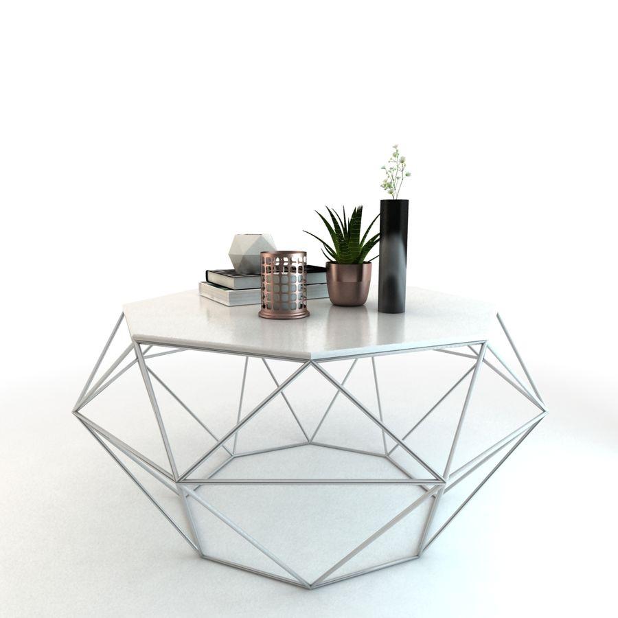 stolik do kawy royalty-free 3d model - Preview no. 4