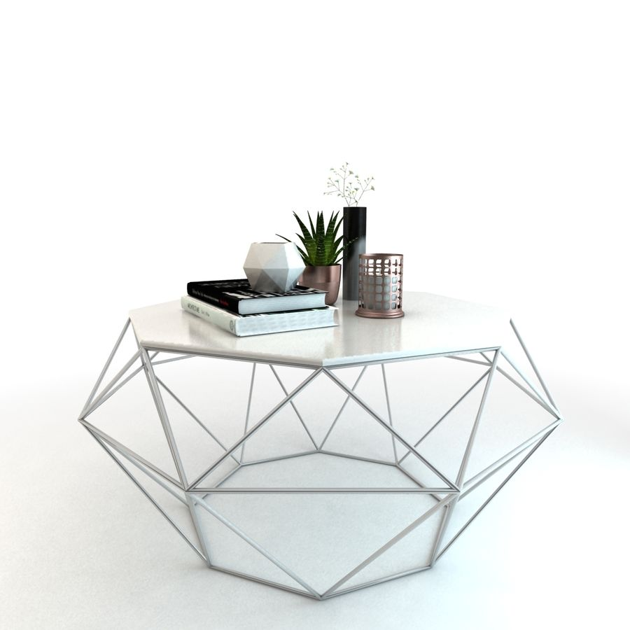 stolik do kawy royalty-free 3d model - Preview no. 5