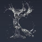 Letra K Splash modelo 3d