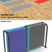 Tapis de yoga et 2 supports 3d model