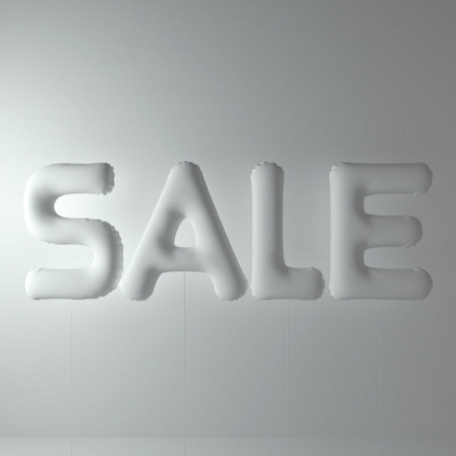 Balloon Alphabet_Sale royalty-free 3d model - Preview no. 3