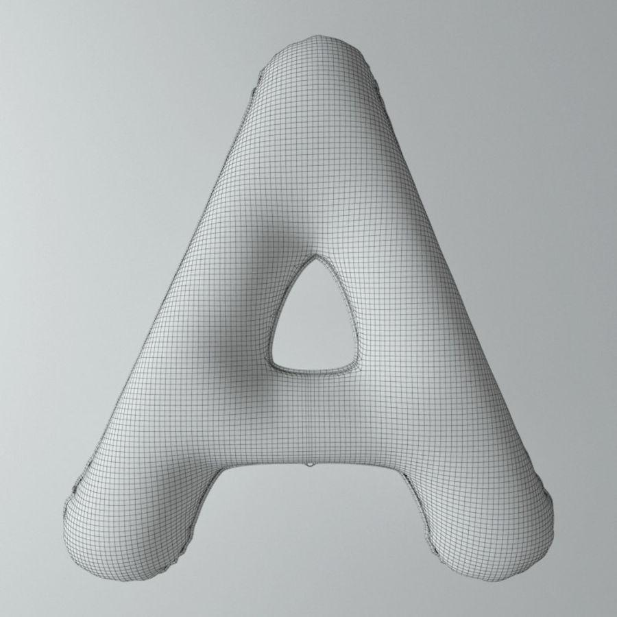 Balloon Alphabet_Sale royalty-free 3d model - Preview no. 5