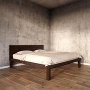 boerum quadro de cama café elm oeste 3d model