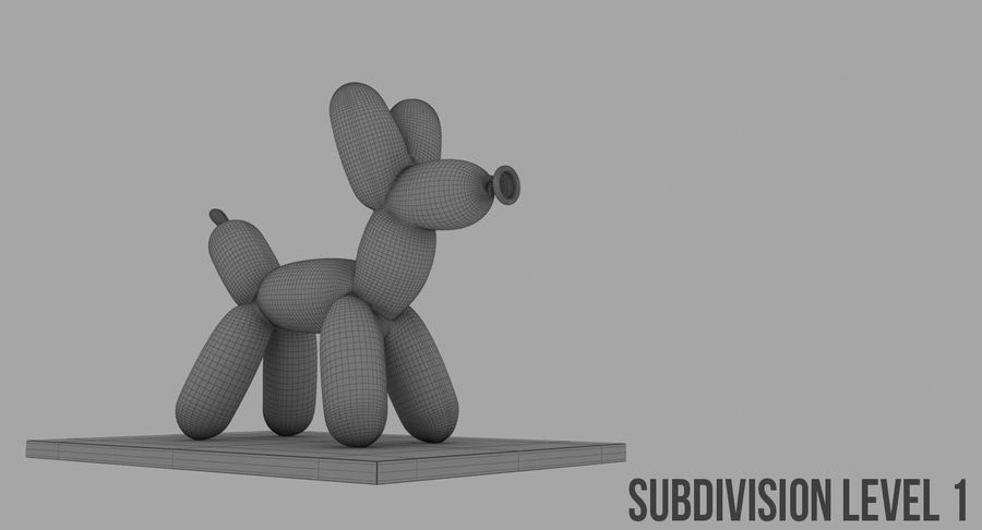 Jeff Koons Balloon Dog royalty-free 3d model - Preview no. 11