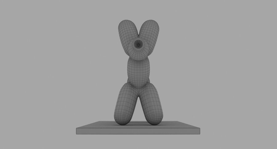 Jeff Koons Balloon Dog royalty-free 3d model - Preview no. 12