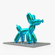 Jeff Koons Balloon Dog 3d model