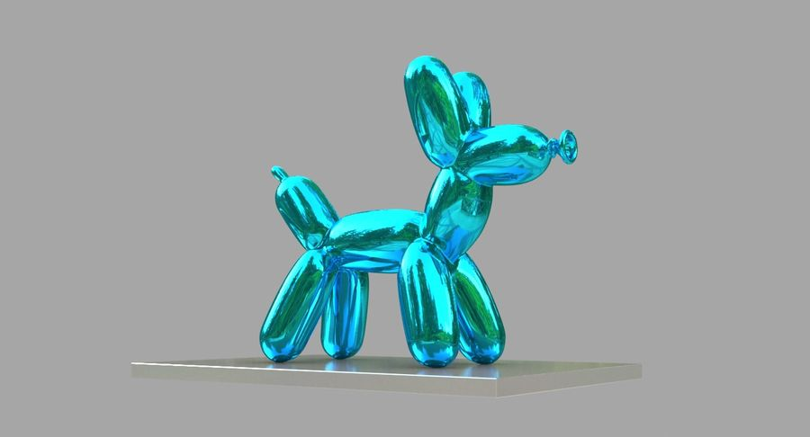 Jeff Koons Balloon Dog royalty-free 3d model - Preview no. 9