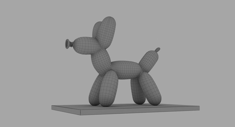 Jeff Koons Balloon Dog royalty-free 3d model - Preview no. 13