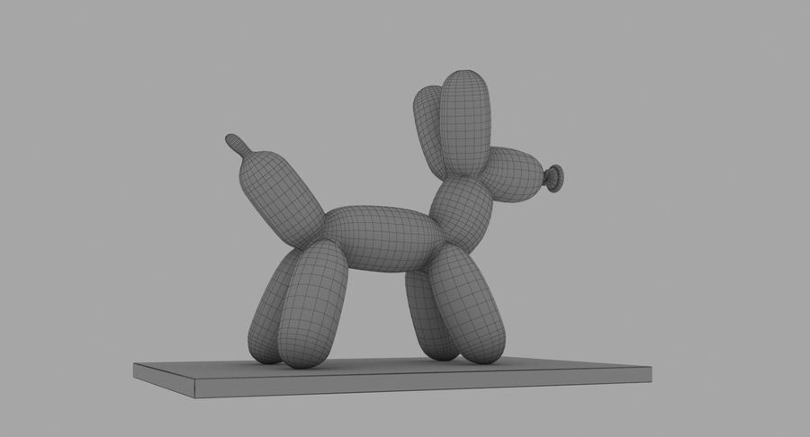 Jeff Koons Balloon Dog royalty-free 3d model - Preview no. 17