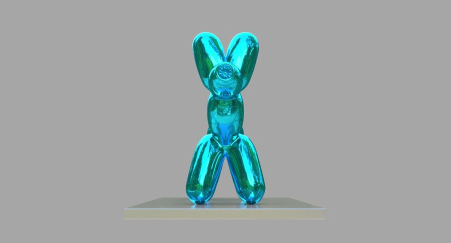 Jeff Koons Balloon Dog royalty-free 3d model - Preview no. 4