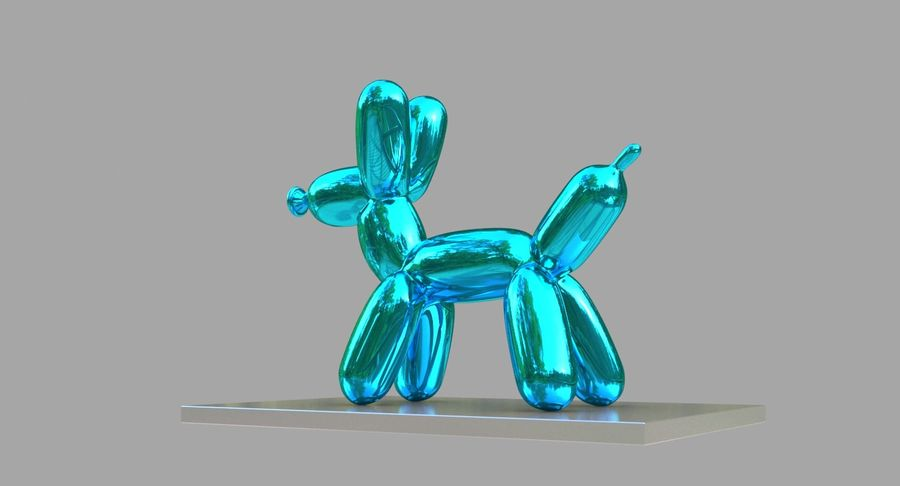 Jeff Koons Balloon Dog royalty-free 3d model - Preview no. 6