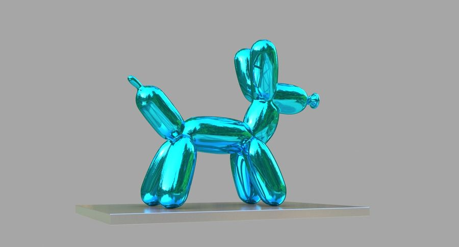 Jeff Koons Balloon Dog royalty-free 3d model - Preview no. 8