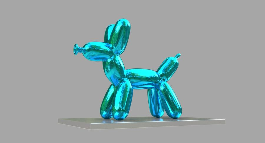 Jeff Koons Balloon Dog royalty-free 3d model - Preview no. 5