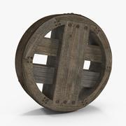 Ruota in legno antico 3d model