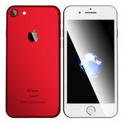 iPhone 7プロダクトレッド 3d model