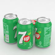 Beverage Can 7up 330ml 3d model