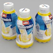 Milchflasche Mullermilch Banana 375ml 3d model