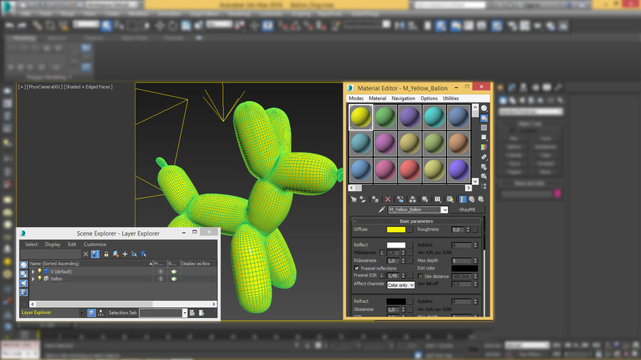 Balloon Dog royalty-free 3d model - Preview no. 17