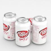 Beverage Can Dr Pepper Diet 330ml 3d model