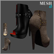 Leaver High Heels Shoes 3d model
