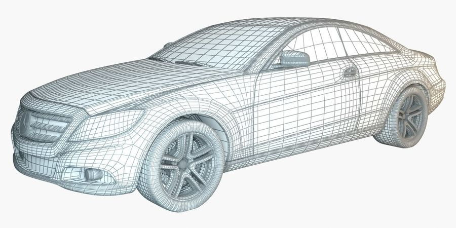 Mercedes CL Class with Interior royalty-free 3d model - Preview no. 4