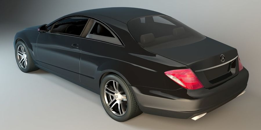 Mercedes CL Class with Interior royalty-free 3d model - Preview no. 3