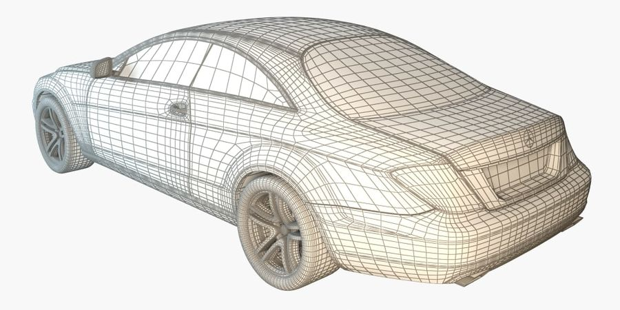 Mercedes CL Class with Interior royalty-free 3d model - Preview no. 5