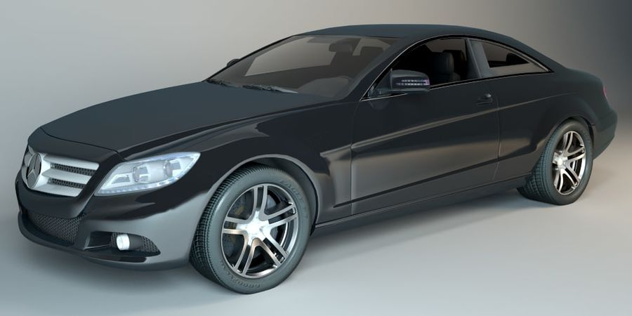 Mercedes CL Class with Interior royalty-free 3d model - Preview no. 2