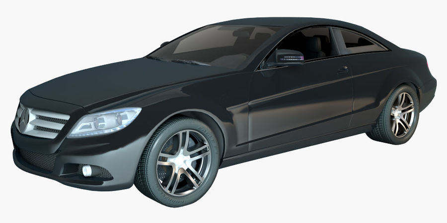 Mercedes CL Class with Interior royalty-free 3d model - Preview no. 1