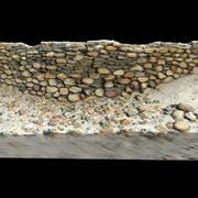 Kamienna ściana 3d model