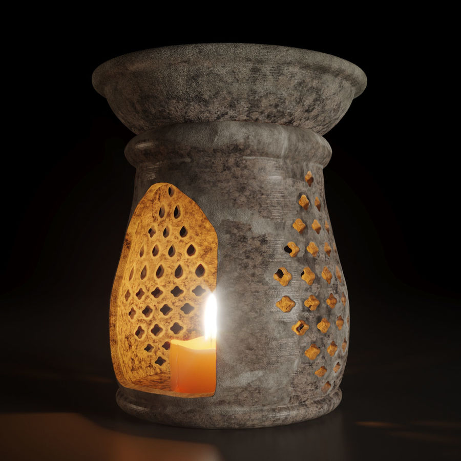 candle holder royalty-free 3d model - Preview no. 1