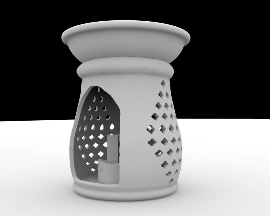 candle holder royalty-free 3d model - Preview no. 5