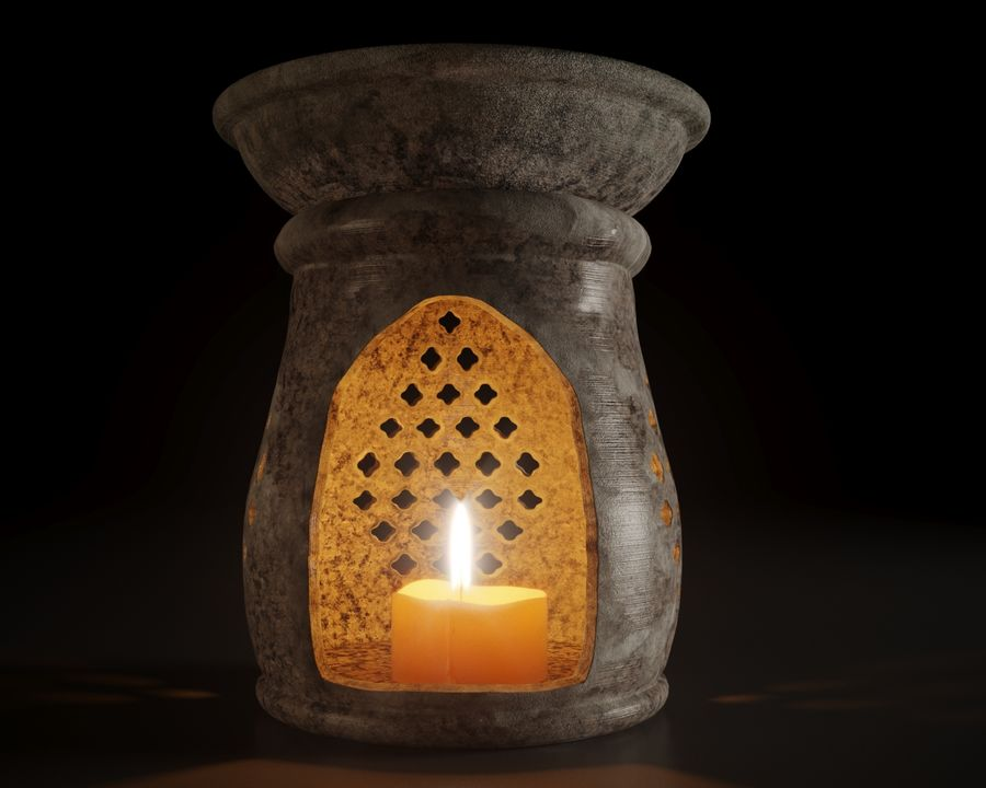 candle holder royalty-free 3d model - Preview no. 6