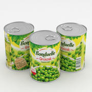 Can Bonduelle Green Peas  400ml 3d model