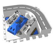 Powerbase 2 - Zone de distribution 3d model