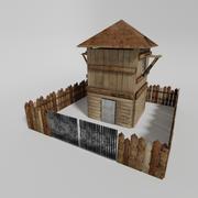 中世纪建筑游戏资产 3d model