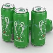Beer Can Heineken Champions League 2016-2017 500ml 3d model