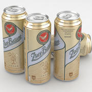 啤酒罐Zlaty Bazant 500ml 3d model