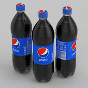 Beverage Bottle Pepsi 1L 3d model