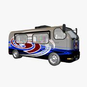 캠핑카 캠프 3d model