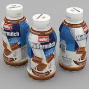 Milchflasche Mullermilch Chocolate 375ml 3d model